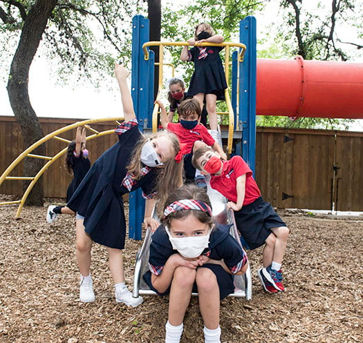 Students at St. George Episcopal School