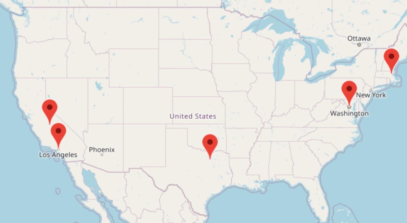 Alumni Spotlight Map