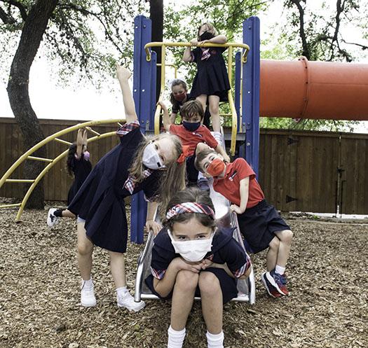 students at St. George School in San Antonio