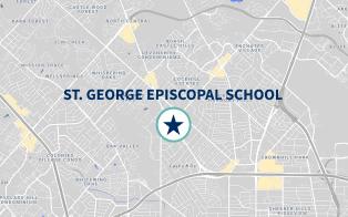 Map of St. Geroge Private School in San Antonio Thanks!